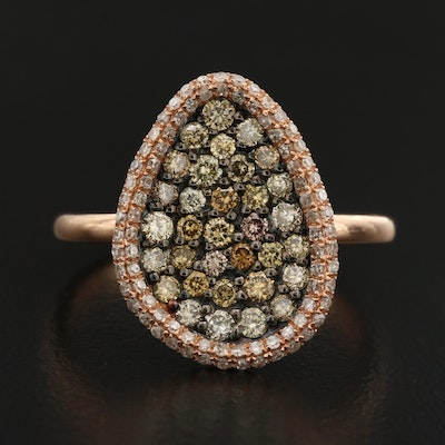 14K Diamond Pavé Ring