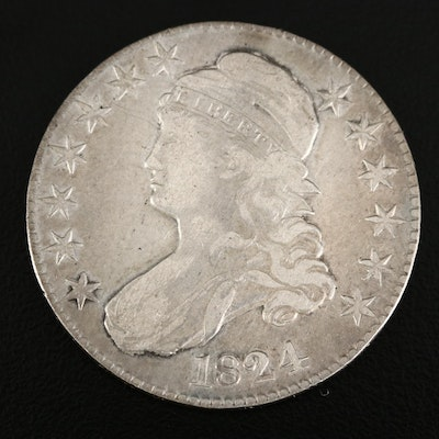 1824 Capped Bust Silver Half Dollar
