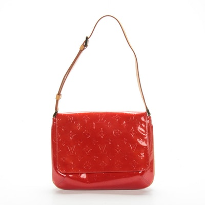 Louis Vuitton Musette Tango Flap Bag in Monogram Vernis and Vachetta Leather
