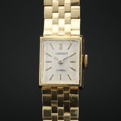 14K Junghans Stem Wind Wristwatch