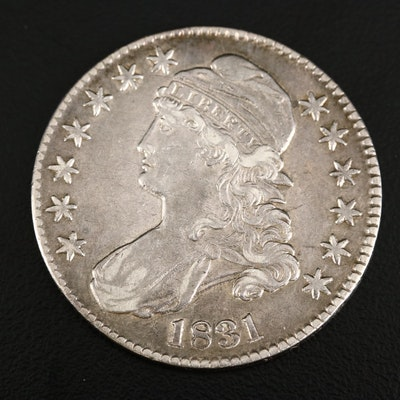 1831 Capped Bust Silver Half Dollar
