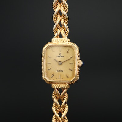14K Concord Quartz Wristwatch