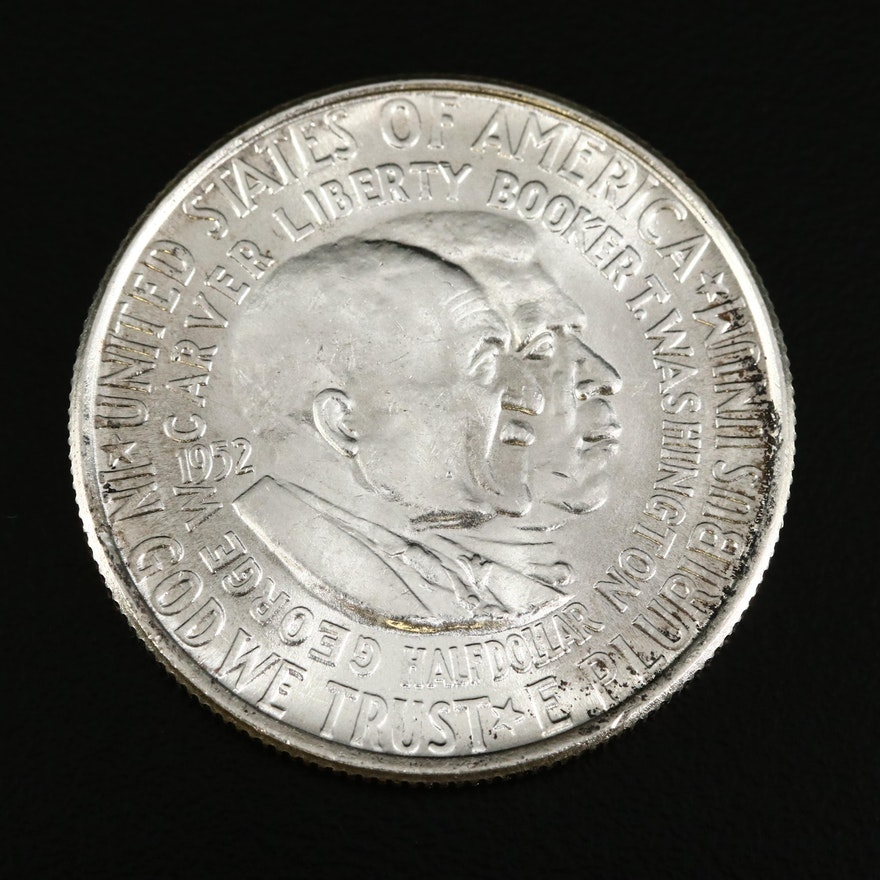 1952 Washington Carver and Booker T. Washington Commemorative Silver Half Dollar