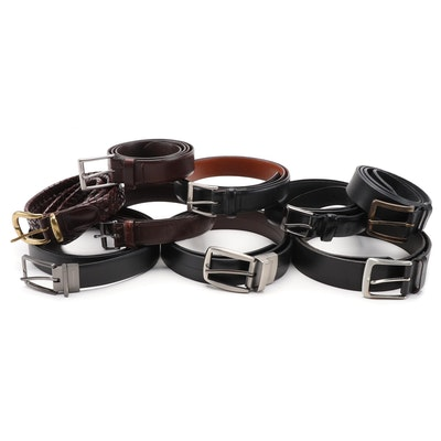 Men's Perry Ellis, Eddie Bauer, Coach, Fossil, Dockers and More Leather Belts