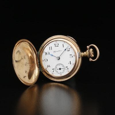 1907 Hampden Gold Filled Hunting Case Pocket Watch
