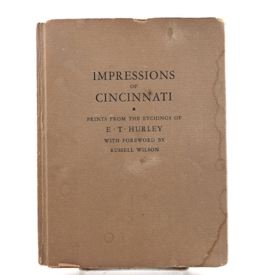 "Signed First Edition E. T. Hurley ""Impressions of Cincinnati"", 1924"