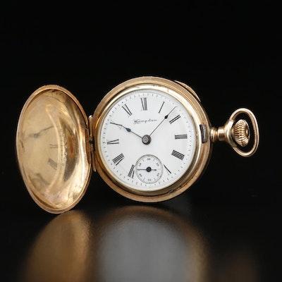 1902 Hampden Gold Filled Hunting Case Pocket Watch
