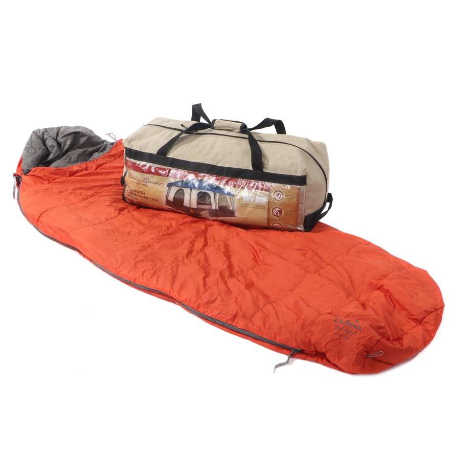 Eddie Bauer Cabin Tent with L.L. Bean Ultralight Sleeping Bag