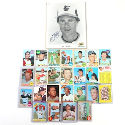 1960's Baseball Trading Cards Including Juan Marichal, Jim Hunter, and More