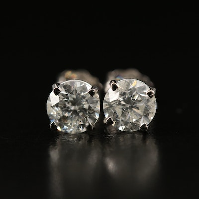 14K 1.56 CTW Diamond Stud Earrings with GIA Reports