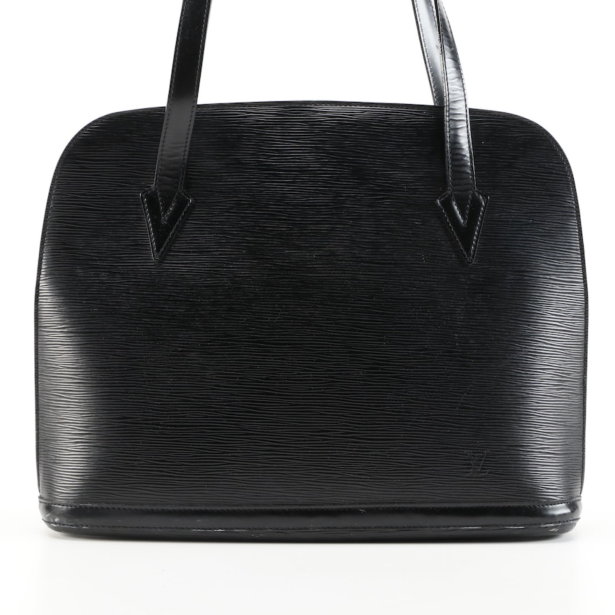 Louis Vuitton Lussac in Black Epi and Smooth Leather