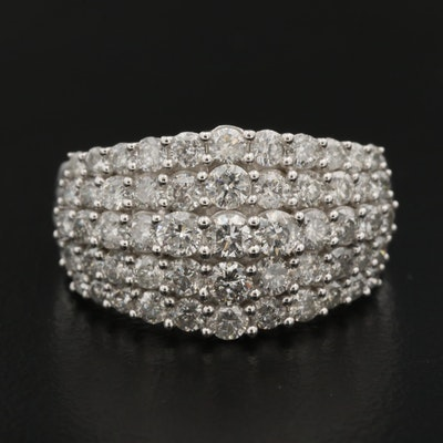 10K 2.10 CTW Diamond Dome Ring