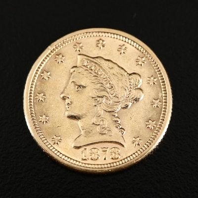 1878 Liberty Head $2.50 Gold Quarter Eagle