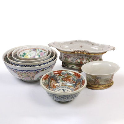 Chinese Centerpiece, Nesting, Console, and Other Decorative Bowls