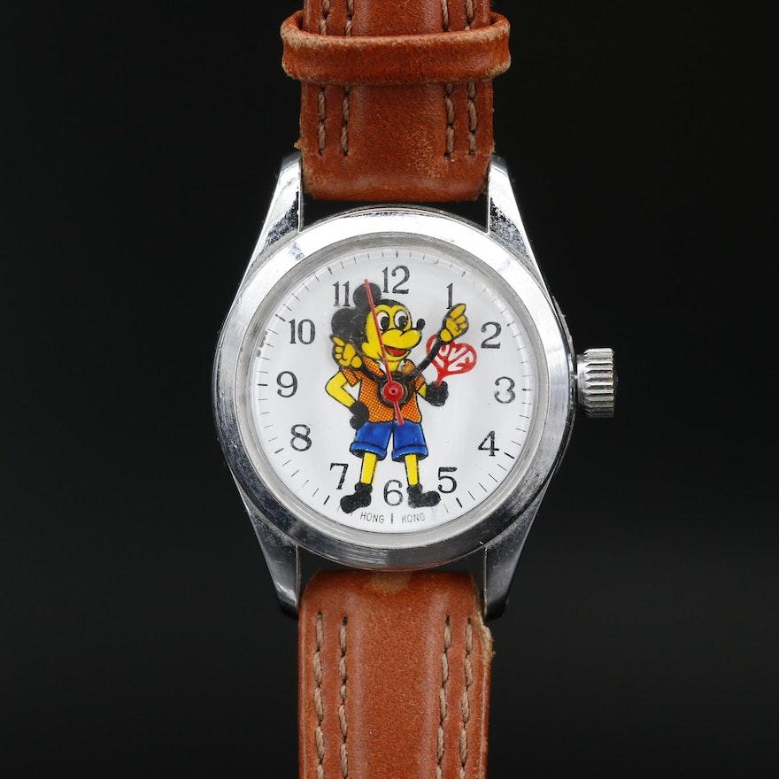 """Remex """"Hippie Mickey"""" Stem Wind Mickey Mouse Wristwatch, Circa 1970"""