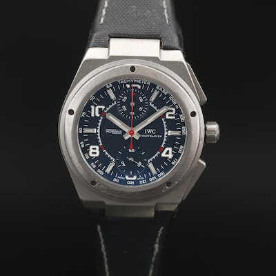 I.W.C. Ingenieur Titanium Automatic Chronograph Wristwatch For Mercedes AMG