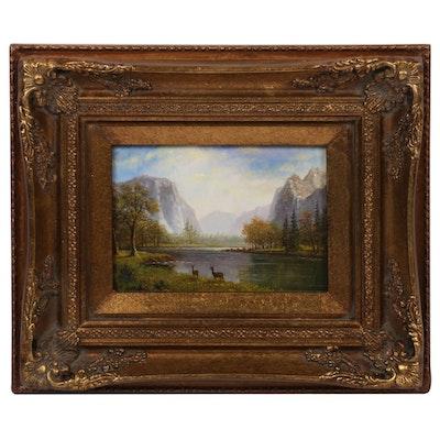 "Acrylic Painting after Albert Bierstadt ""Yosemite Valley"""