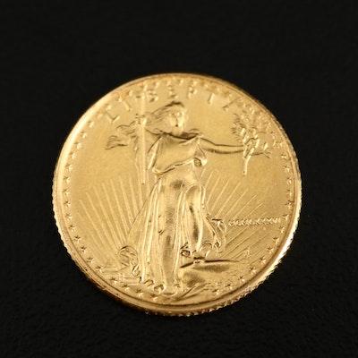 1986 $5 Gold Eagle 1/10th Oz. Bullion Coin