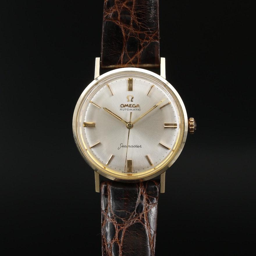 Omega Seamaster 14K Gold Automatic Wristwatch, Circa 1962