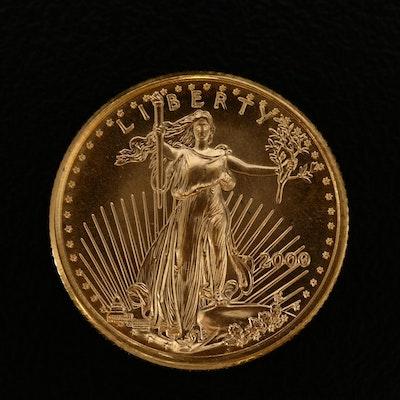 2000 $5 Gold Eagle 1/10th Oz. Bullion Coin