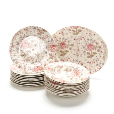 "Johnson Brothers ""Rose Chintz Pink"" Tableware, Late 20th Century"