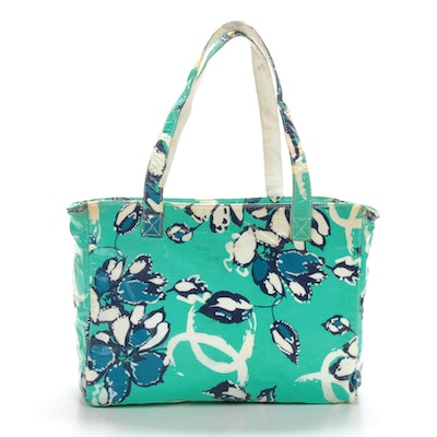 Chanel Tote Bag in Vinyl Coated Floral Print Fabric