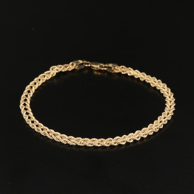 10K Double Rope Chain Bracelet