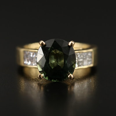 Natasha 18K 4.37 CT Tourmaline and Diamond Ring
