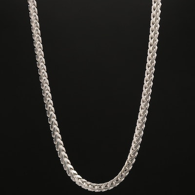 Sterling Silver Franco Chain Necklace