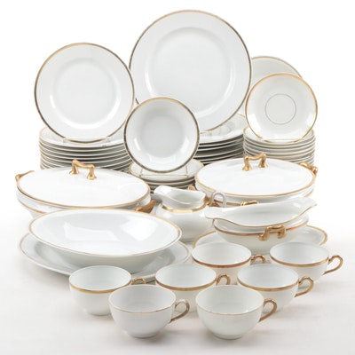 Mixed Collection of German and Japanese Gold Banded China, Early to Mid 20th C.