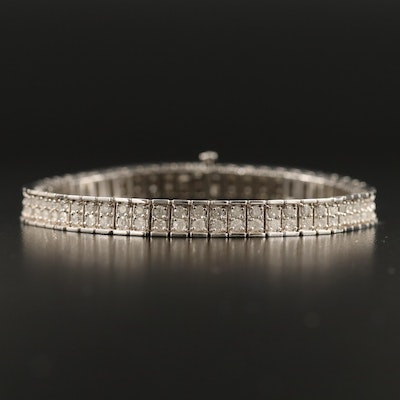 14K 3.60 CTW Diamond Tennis Bracelet
