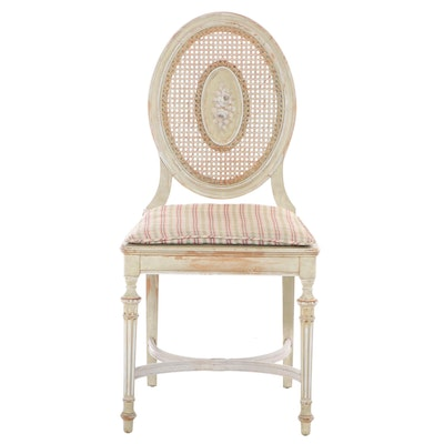 Louis XVI Style Paint-Decorated Side Chair, Late 19th Century