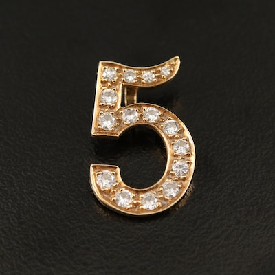 "14K Diamond ""5"" Slide Pendant"