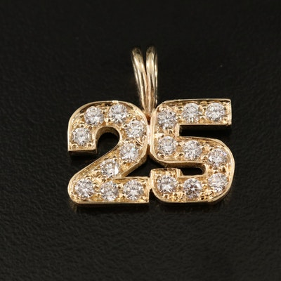 "14K Diamond ""25"" Pendant"