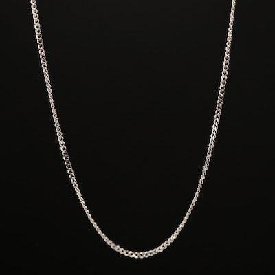 14K Curb Necklace