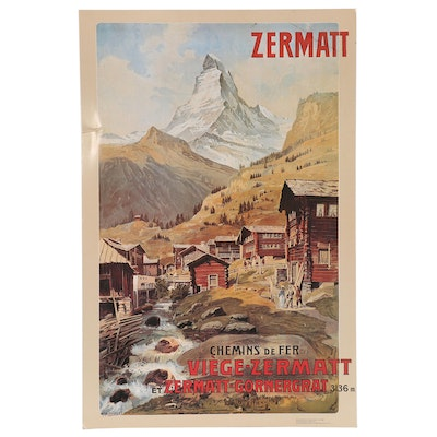 "Offset Lithograph after Anton Reckziegel ""Zermatt Matterhorn"", 21st Century"