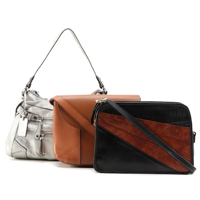 Lucky Brand, Roche and Tignanello Leather and Embossed Shoulder Bags