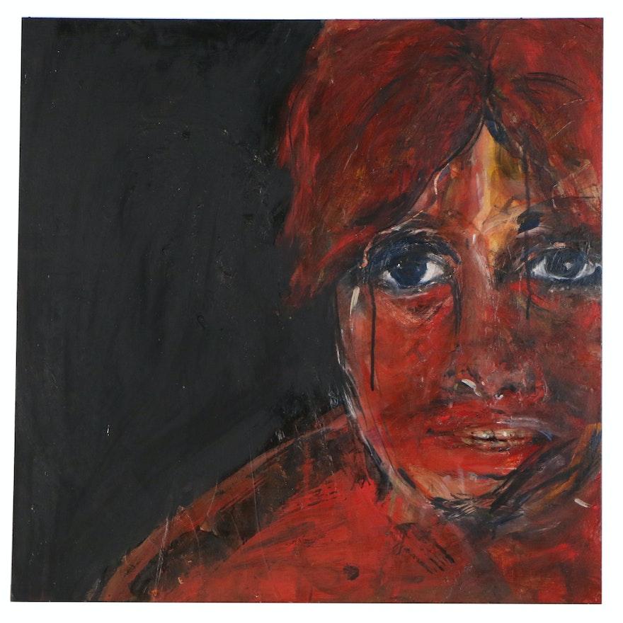 Georgia Henkel Oil Portrait Painting, 21st Century