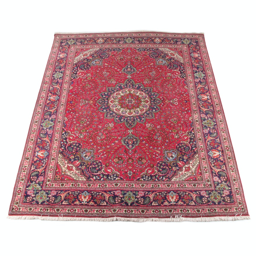 9'11 x 13'3 Hand-Knotted Persian Isfahan Wool Rug
