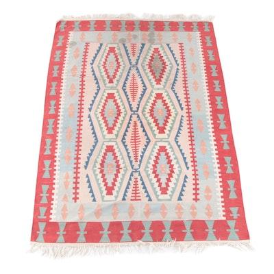 6'0 x 9'2 Handwoven Split Kilim Wool Rug