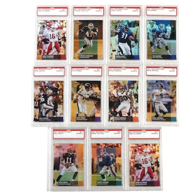 2001 Graded Bowman Football Cards Including Jamal Lewis and Cris Carter