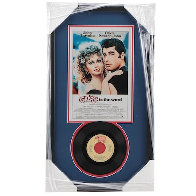 """Grease The Movie """"You're the One I Want"""" 45 RPN Record Photo Print Display, CEI"""