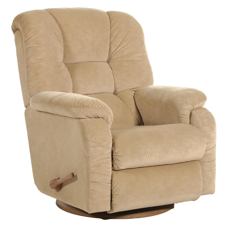 La-Z-Boy Rocker Recliner with Synthetic Suede Upholstery