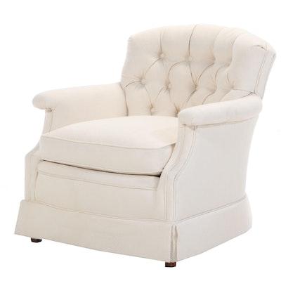 Custom-Upholstered Armchair, Late 20th Century