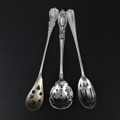 Baker Manchester and Other American Sterling Silver Pierced Spoons