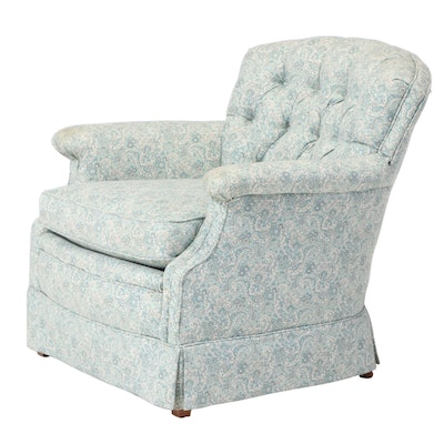 Custom-Upholstered Easy Armchair, Late 20th Century