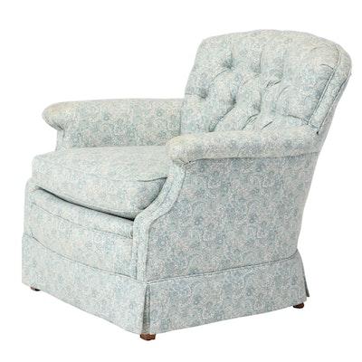 Custom-Upholstered Easy Armchair, Late 20th Century
