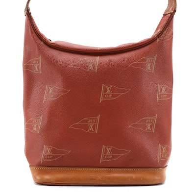 Louis Vuitton Le Touquet Shoulder Bag in Red Brown LV Cup Coated Canvas