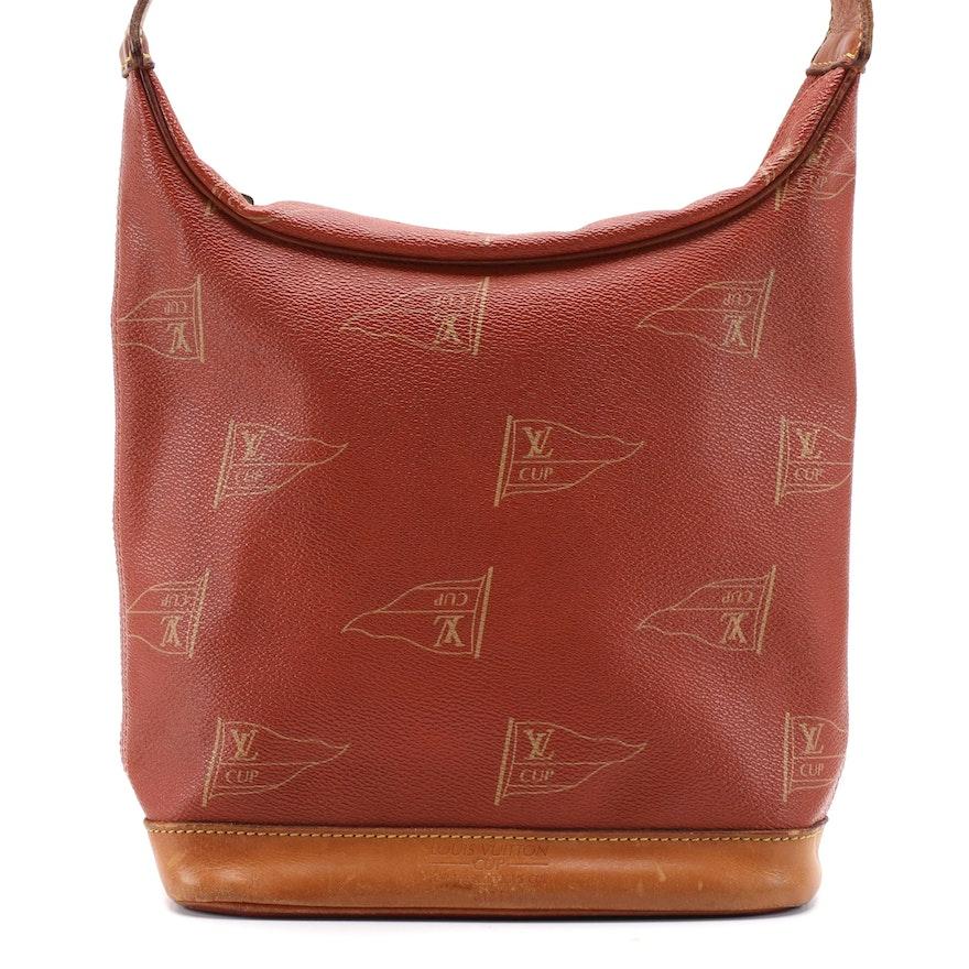 Louis Vuitton Le Touquet Shoulder Bag in Red Brown LV Cup Coated Canvas