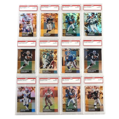 2001 Graded Bowman Football Cards Including Emmitt Smith and Amani Toomer